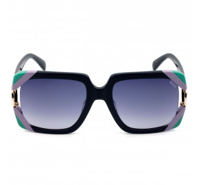 Emilio Pucci EP 159 Azul Marinho/Cinza Degradê 92W 57mm - Óculos de Sol