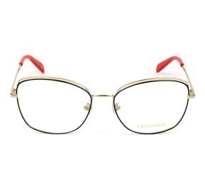 Emilio Pucci EP 5167 Dourado/Verde/ 089 56mm - Óculos de Grau