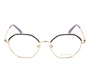 Emilio Pucci EP 5169 Dourado/Preto 032 54mm - Óculos de Grau