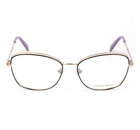 Emilio Pucci EP 5167 Dourado/Preto 005 56mm - Óculos de Grau