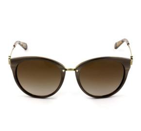 Michael Kors Abela III MK6040 - Óculos de Sol 321213 Marrom/Dourado Lentes 55mm