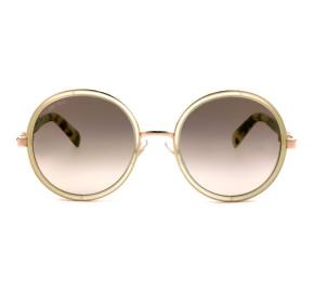 Jimmy Choo Andie/s - Nude/Marrom Degradê J7ANH 54mm - Óculos de Sol