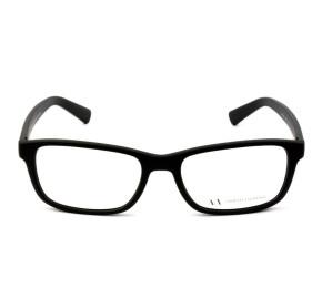 Armani Exchange AX3021L - Preto Fosco/Vermelho 8078 54mm - Óculos de Grau