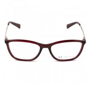 Armani Exchange AX 3028L - Óculos de Grau Vinho 8003 Lentes 53MM