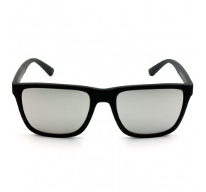Armani Exchange AX4080SL - Preto Fosco/Cinza Espelhado 80786G 57mm - Óculos de Sol