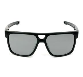 Oakley Crossrange Patch OO9382 - Preto Brilho/Cinza Semi Espelhado Prizm 60mm - Óculos de Sol