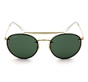 Ray Ban Blaze Round Ponte Dupla RB3614-N - Dourado/G15 9140/71 54mm - Óculos de Sol