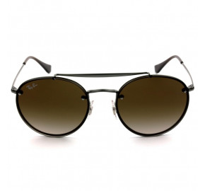 Ray Ban Blaze Round Ponte Dupla RB3614-N - Chumbo/Marrom Degradê 9144/13 54mm - Óculos de Sol