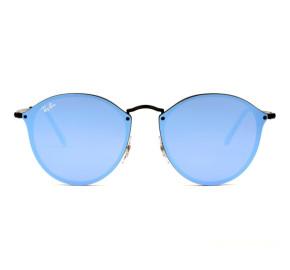 Ray Ban Blaze Round RB3574N - Preto/Azul Escuro Espelhado 153/7V 59mm - Óculos de Sol