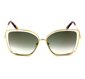 Chloé CE 133S Dourado/Verde Degradê 733 60mm - Óculos de Sol
