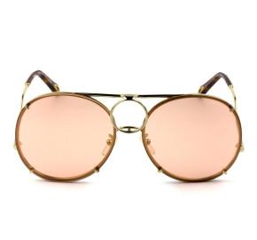 Chloé CE 145S Rose Semi Espelhado 828 61mm - Óculos de Sol