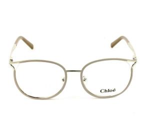 Chloé CE 2126 - Óculos de Grau 719 Bege/Dourado Lente 52mm