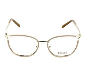 Chloé CE 2132 - Óculos de Grau 719 Bege/Dourado Lente 53mm