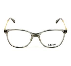 Chloé CE 2727 - Óculos de Grau 035 Cinza/Dourado Lente 54mm
