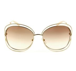 Chloé CE 119S Marrom Degradê/Dourado 724 60mm - Óculos de Sol