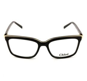 Chloé CE 2661 - Óculos de Grau 001 Preto Brilho Lente 53mm