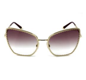 Dolce & Gabbana DG2212 - Óculos de Sol Roxo Degradê/Dourado 02/8H Lentes 61mm