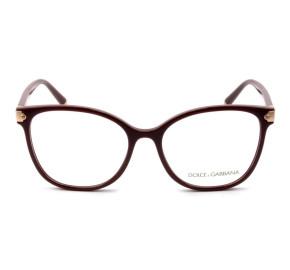 Dolce & Gabbana DG5035 - Óculos de Grau 3091 Vinho/Dourado Lentes 55mm