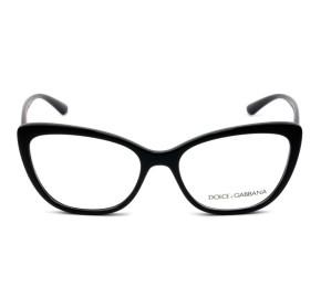 Dolce & Gabbana DG5039 - Óculos de Grau 501 Preto/Dourado Lentes 54mm