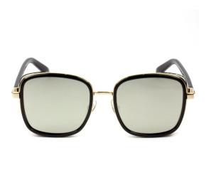 Jimmy Choo ELVA/S - Preto/Dourado Espelhado 2M2T4 54mm - Óculos de Sol