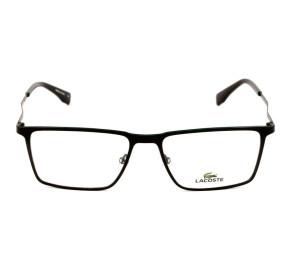 Lacoste L2242 Preto Fosco/Verde 002 56mm - Óculos de Grau