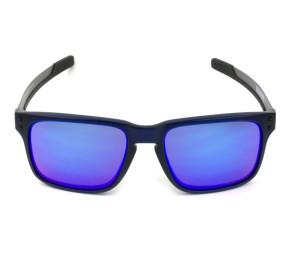 Oakley Holbrook MIX  OO9384 - Preto Fosco/Azul Espelhado 57mm - Óculos de Sol