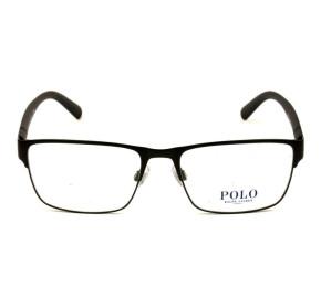 Polo Ralph Lauren PH1175 - Preto Fosco 9038 56mm - Óculos de Grau