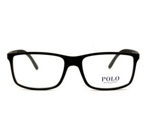 Polo Ralph Lauren PH2126 - Preto Fosco/Azul 5505 55mm - Óculos de Grau