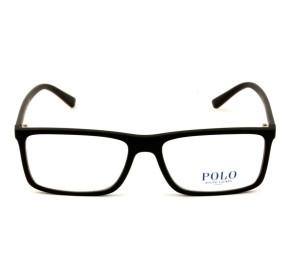Polo Ralph Lauren PH2178 - Preto Fosco/Vermelho 5284 55mm - Óculos de Grau