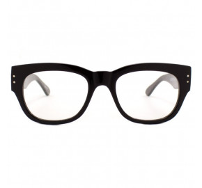 Óculos de Grau Evoke Plays Louder 01 Black Shine Sanded Silver Demo Lens