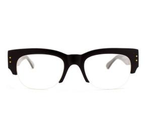 Óculos de Grau Evoke Plays Louder 01 Upper - Black Shine Sanded Gold Demo Lens