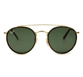 Ray Ban Round Ponte Dupla RB3647N - Dourado/G15 001 51mm - Óculos de Sol