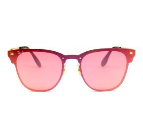Ray Ban Blaze Clubmaster RB3576-N - Dourado/Rose Semi-Espelhado 043/E4 47mm - Óculos de Sol