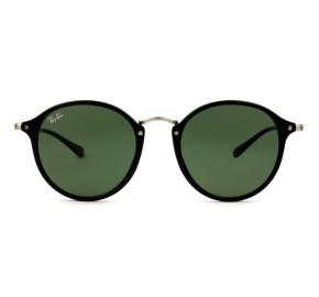 Ray-Ban Round Fleck RB2447 - Preto Brilho/G15 901 52mm - Óculos de Sol