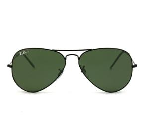 Ray Ban Aviador RB3025L - Preto/G15 Polarizado 002/58 58mm - Óculos de Sol