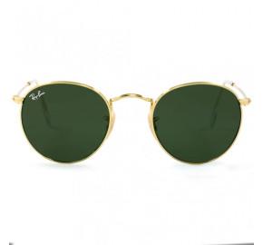 Ray Ban Round RB3447L - Dourado/G15 001 53mm - Óculos de Sol