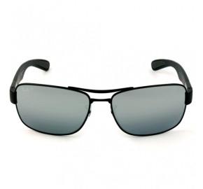 Ray Ban RB3522 - Preto Fosco/Prata Polarizado 006/82 64mm - Óculos de Sol