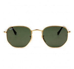 Ray Ban Hexagonal RB3548N Dourado/G15 001 54mm - Óculos de Sol