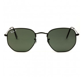 Ray Ban Hexagonal RB3548N - Preto/G15 Polarizado 002/58 51mm - Óculos de Sol