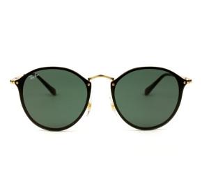 Óculos Ray Ban Blaze Round RB3574N - Dourado/G15 001/71 59mm - Óculos de Sol