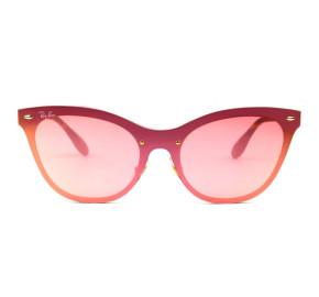 Ray Ban Blaze Cat Eye RB3580-N - Dourado/Rose 043/E4 43mm - Óculos de Sol