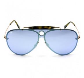 Ray Ban Blaze Shooter RB3581-N - Bronze/Azul Espelhado 9035/1U 32mm - Óculos de Sol