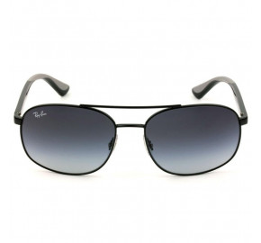 Ray Ban RB3593 - Preto/Cinza Degradê 002/8G 58mm - Óculos de Sol