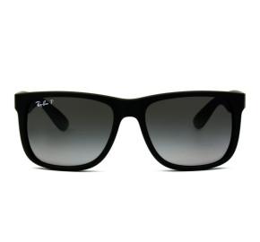 Ray Ban Justin RB4165L - Preto Fosco/Cinza Degradê Polarizado 622/T3 55mm - Óculos de Sol