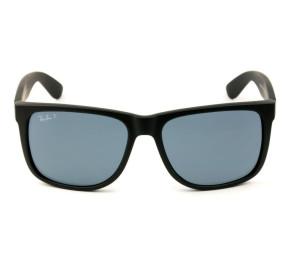 Ray Ban Justin RB4165L - Preto/Cinza Polarizado 622/2V 57mm - Óculos de Sol