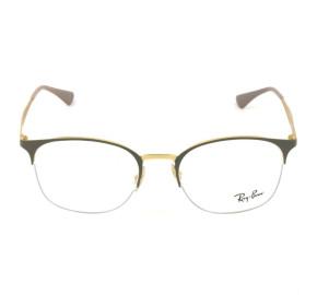 Ray Ban RB6422 - Cinza/Dourado 3005 51mm - Óculos de Grau