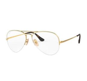 Ray Ban Aviador RX6589 - Dourado 2500 59mm - Óculos de Grau