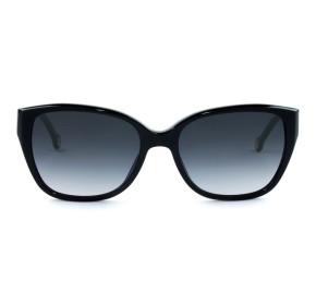 Carolina Herrera SHE566 - Preto/Cinza Degradê 0700 56mm - Óculos de Sol