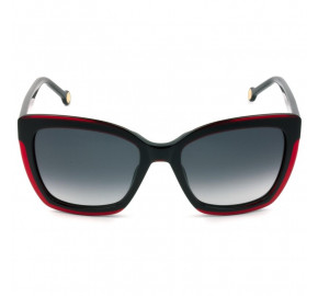 Carolina Herrera SHE788 - Preto/Vinho/Cinza Degradê 01CP 55mm - Óculos de Sol