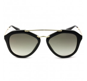 Prada SPR 12QS - Preto/Cinza Degradê 1AB-0A7 54mm - Óculos de Sol